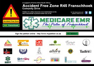 Accident Free Zone R45 Franschhoek